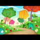 Landscape with Multi-Colored Trees - GraphicRiver Item for Sale