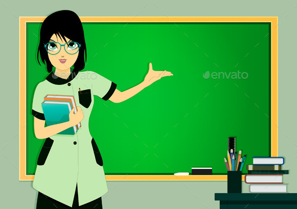 GraphicRiver Teacher in Class 9104722