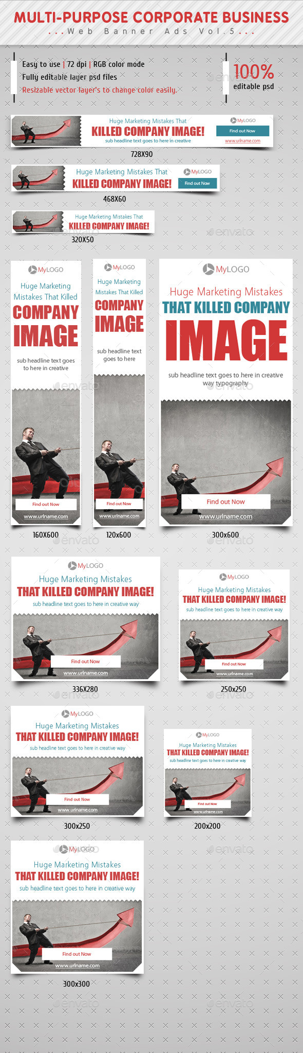 GraphicRiver Corporate Web Banner Ads Vol.5 9104776