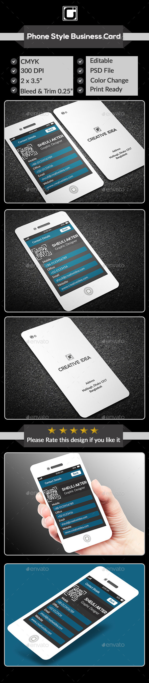 GraphicRiver Phone Business Card 9093371