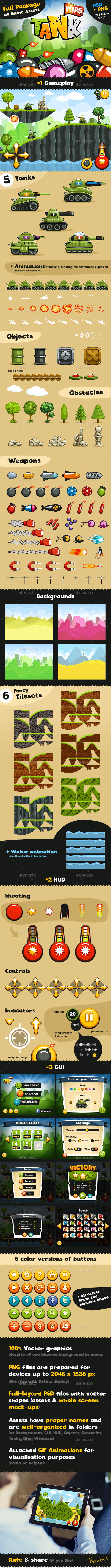 GraphicRiver Game Assets for Tank Wars 9104963