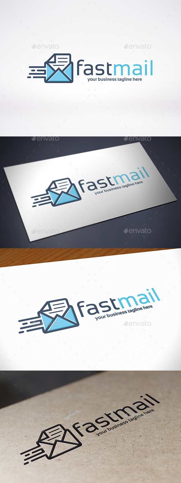 GraphicRiver Fast Mail Logo Template 9105133