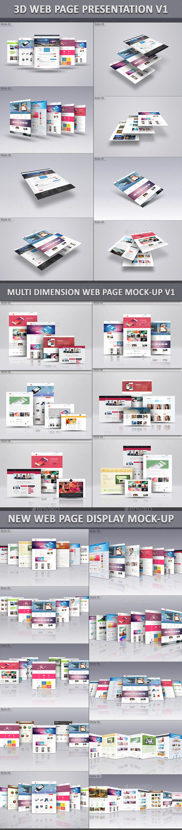 GraphicRiver Web Page Mock-Up Bundle V1 9105284