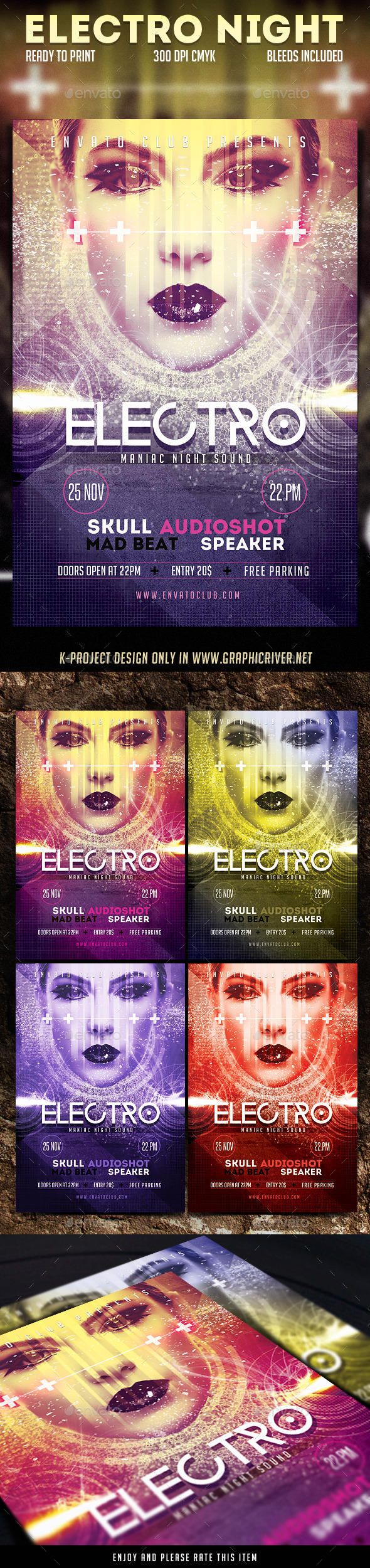 GraphicRiver Electro Night Flyer 9105450