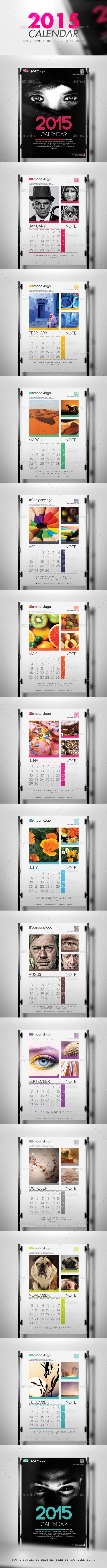 GraphicRiver Clean 2015 Calendar 9093885