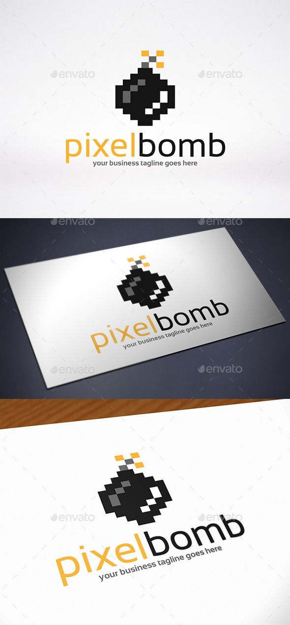 GraphicRiver Pixel Bomb Logo Template 9105495