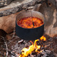Borscht (Ukrainian soup) cooking on campfire - PhotoDune Item for Sale