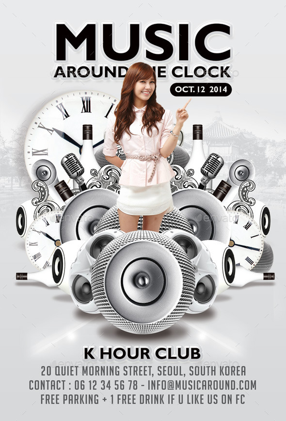 GraphicRiver Music Around The Clock Party In Club 9105602