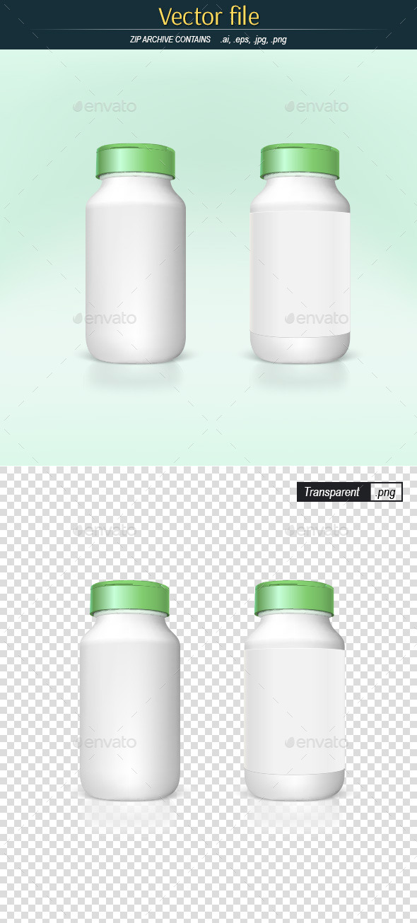 GraphicRiver White Plastic Bottles 9105700