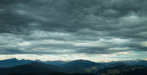 Stormy Sky Over the Mountains 2