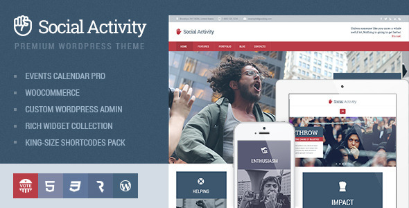 Social Activity Politics & Activism WP Theme