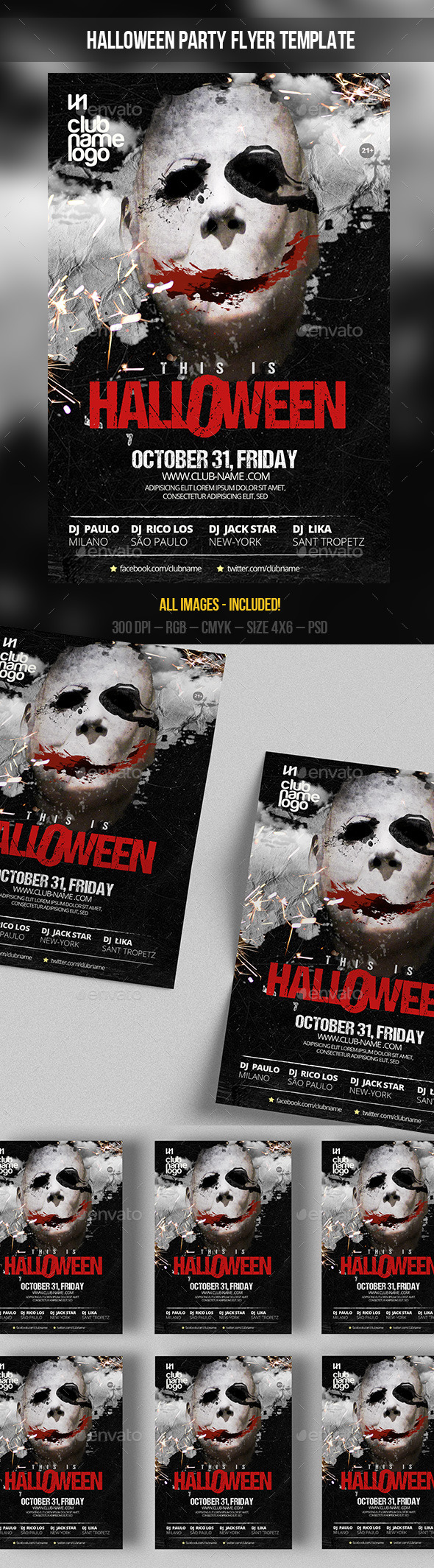 GraphicRiver Halloween Party Flyer Template 9106792