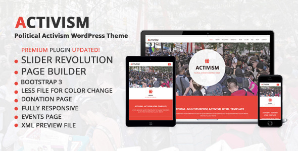 ThemeForest Activism Political Activism WordPress Theme 9022016