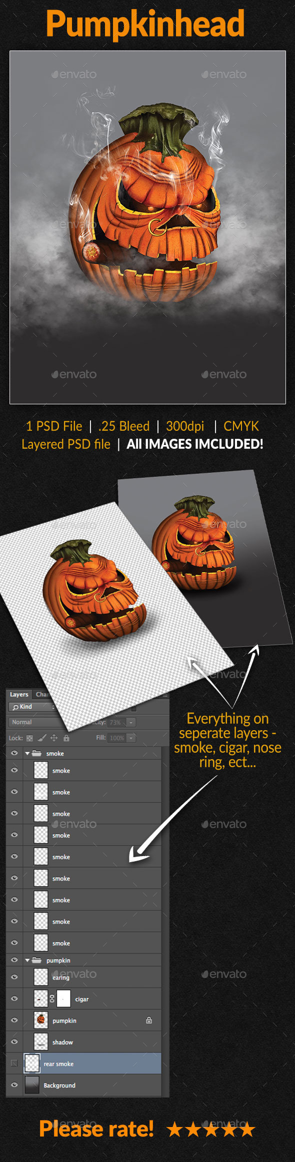 GraphicRiver Pumpkin Head 9107320