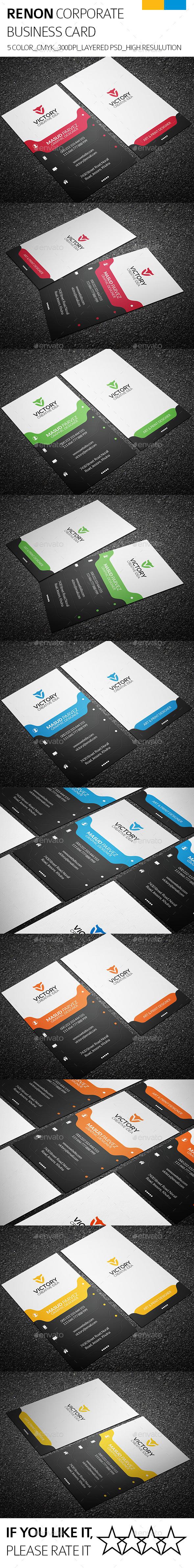 GraphicRiver Renon & Corporate Business Card 9107599