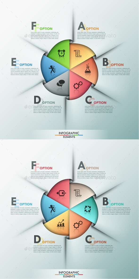 Modern Infographic Options Template 2 Items