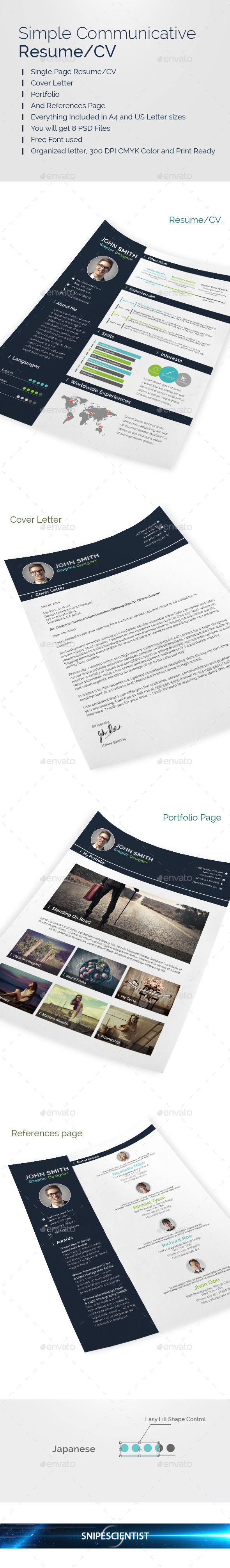 GraphicRiver Simple Resume CV Print Templates 9108560