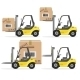 Loader with Box Icons Set - GraphicRiver Item for Sale