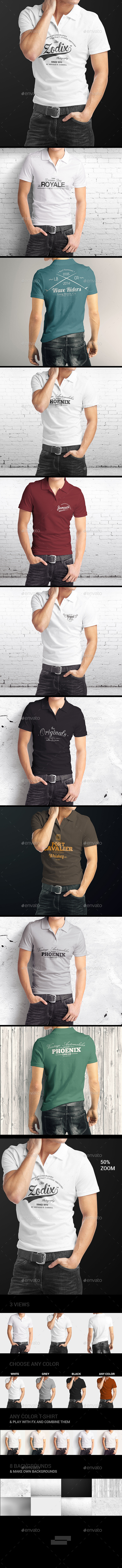 GraphicRiver Man Polo Shirt Mock-Up 9109076