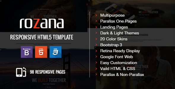 ThemeForest Rozana Multipurpose HTML5 Template 9082584