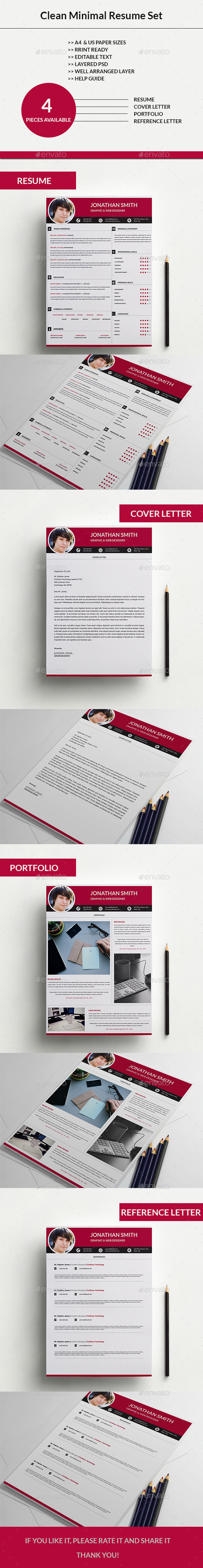 Clean Minimal Resume Set 03