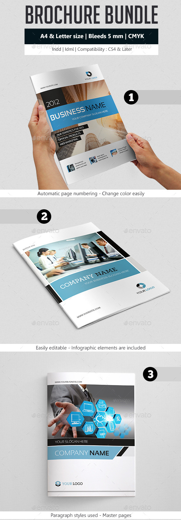GraphicRiver Business Brochure Template Bundle 9098772