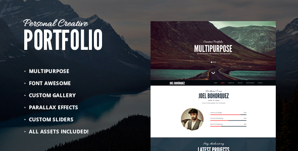 ThemeForest Personal Creative Portfolio Multipurpose 9109570