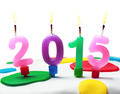 burning candles with the symbol of the new year 2015 - PhotoDune Item for Sale