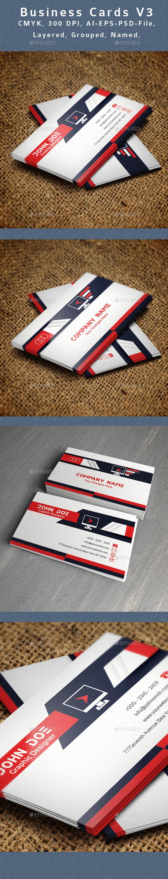 GraphicRiver Creative Business Card V3 9110123