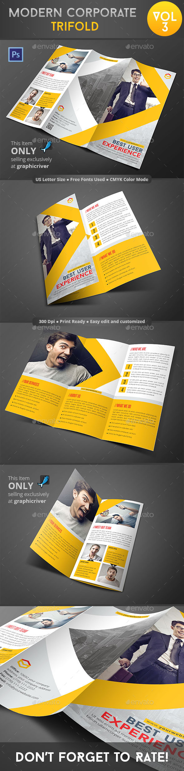 GraphicRiver Modern Corporate Trifold Vol 3 9110236