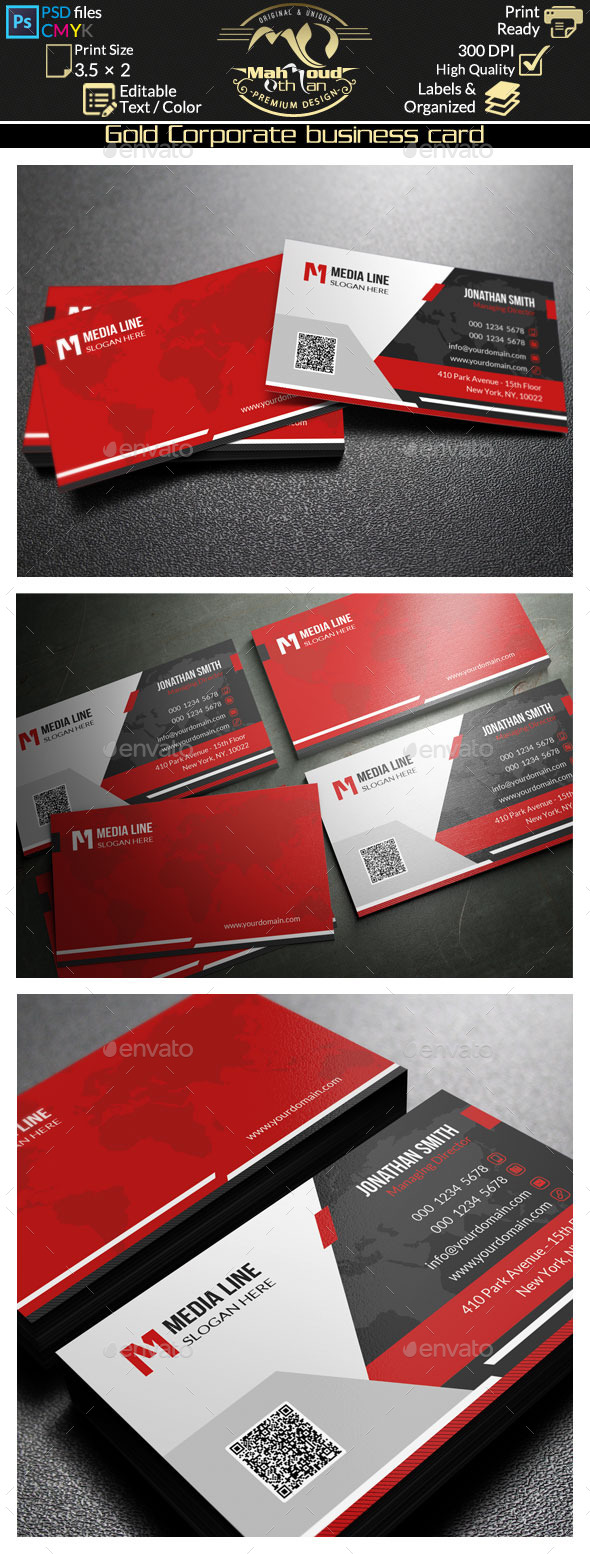 GraphicRiver Corporate Business Card 50 9110582