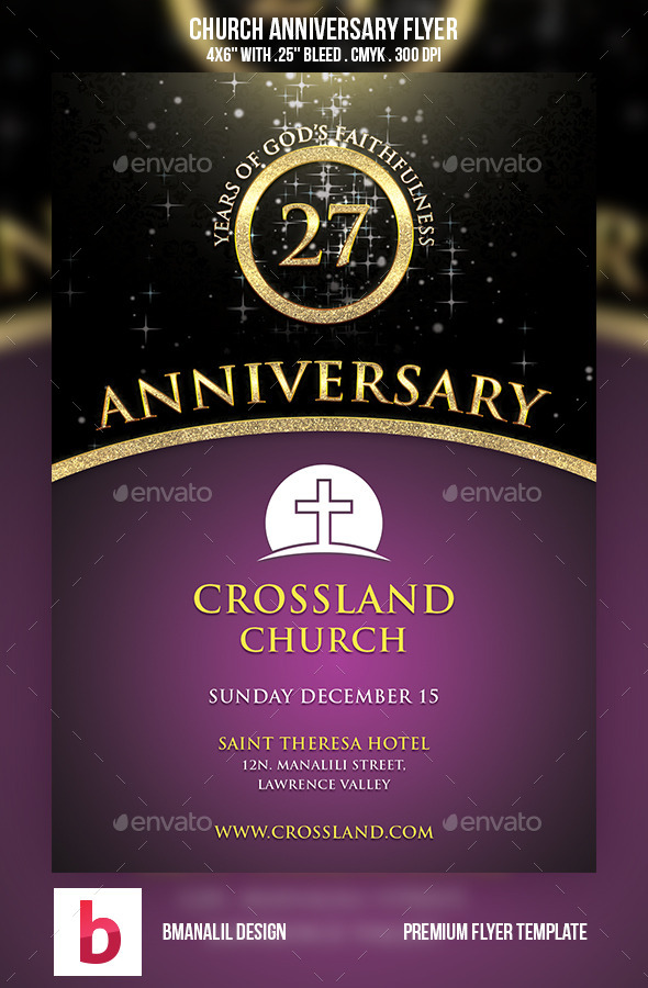 GraphicRiver Church Anniversary Flyer 9110904