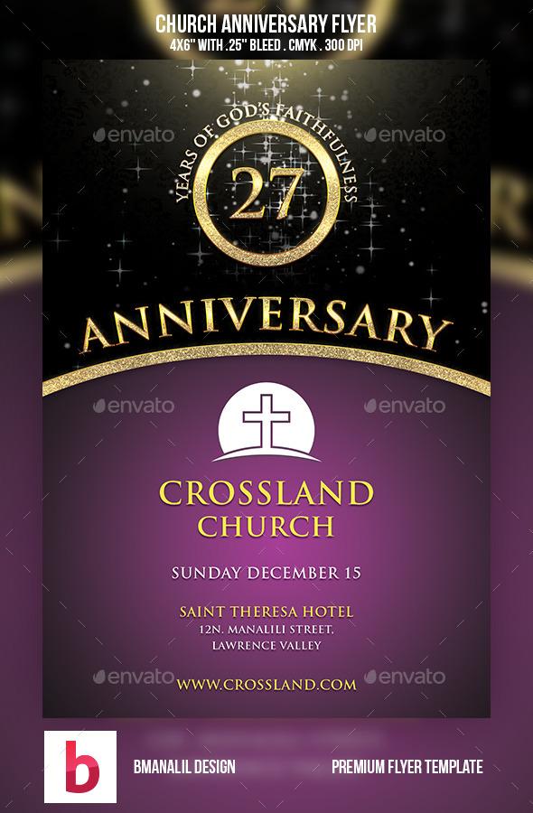 Church Anniversary Flyer | GraphicRiver