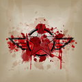 star symbol with blood on crumple paper - PhotoDune Item for Sale