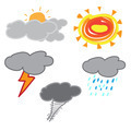 handwriting of kid drawing weather - PhotoDune Item for Sale