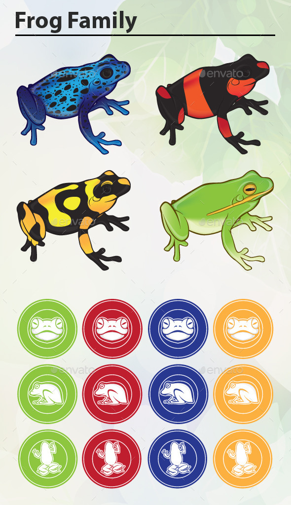 GraphicRiver Frog Family 9111274