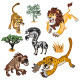 Africa Animals & Trees Collection Set 01 - GraphicRiver Item for Sale