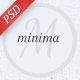 Minima PSD Template - ThemeForest Item for Sale