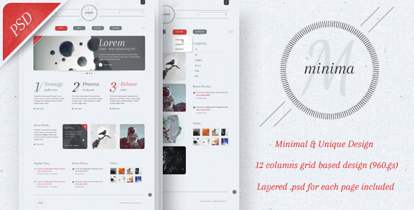 ThemeForest Minima PSD Template 931117