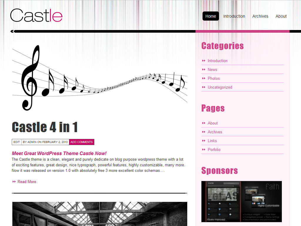 Castle - 9 in 1 Professional Blog Template