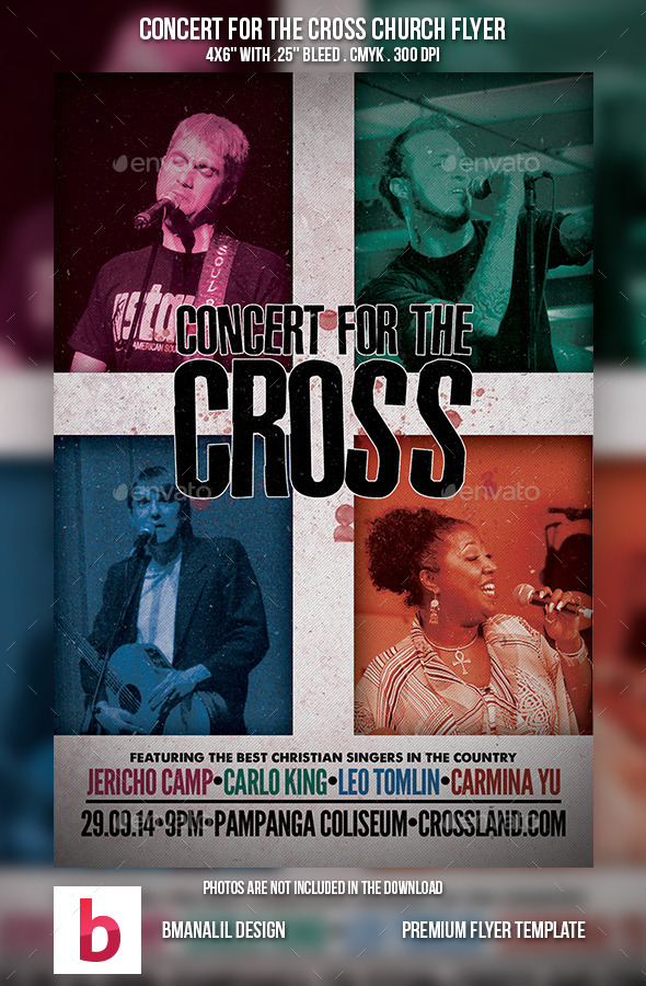 GraphicRiver Concert for the Cross Church Flyer 9113014