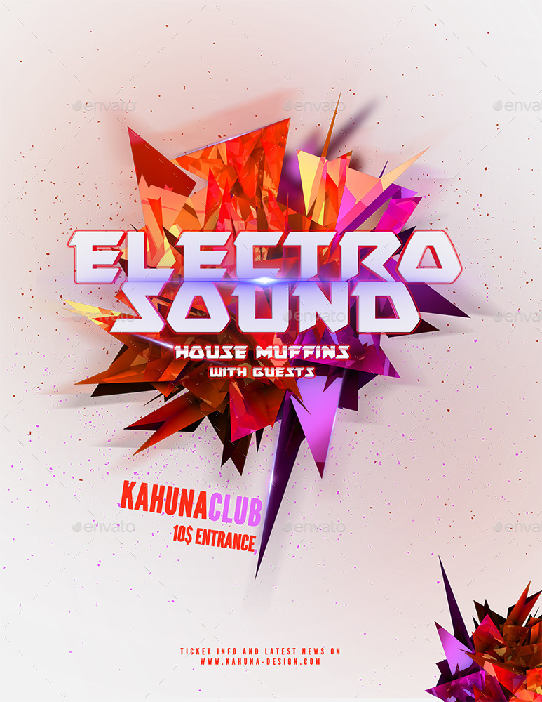 Electro Party Flyer Bundle by KahunaDesign – Electro Flyer