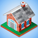 Isometric Brick House - GraphicRiver Item for Sale