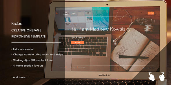 ThemeForest Krobs Personal Onepage Responsive Template 8926006