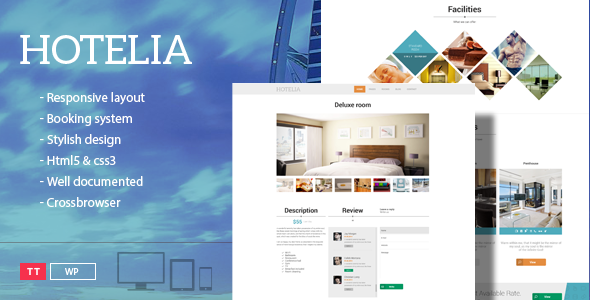 ThemeForest Hotelia WordPress Hotel Theme 9113809