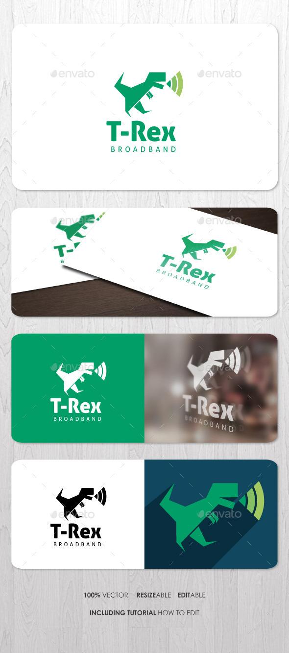 GraphicRiver T-Rex Broadband Logo 9114656