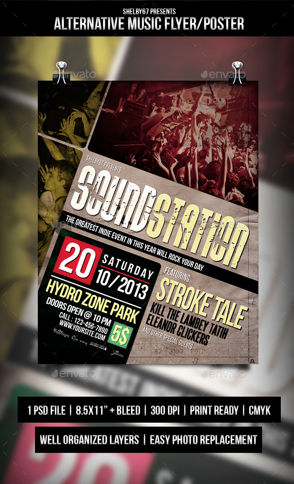 GraphicRiver Alternative Music Flyer Poster 9114834