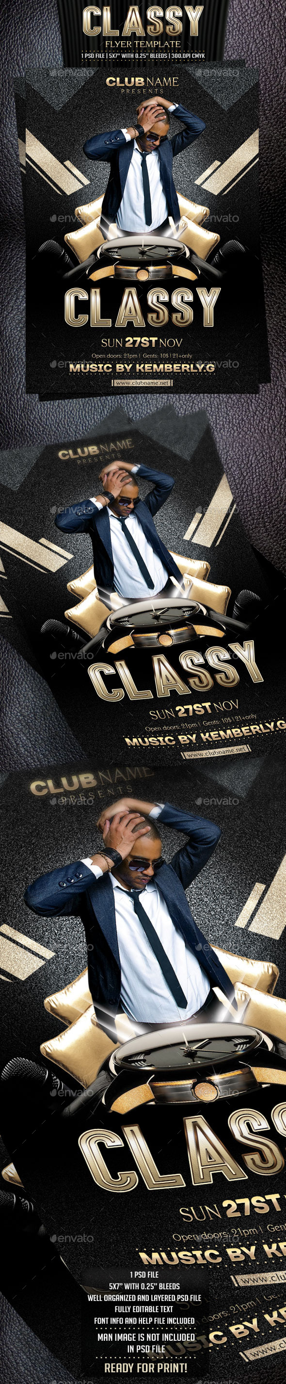 GraphicRiver Classy Flyer Template 9115008