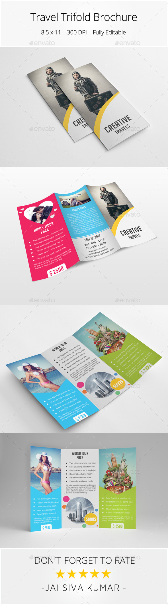 GraphicRiver Travel Trifold Brochure 9115113