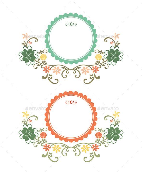 GraphicRiver Vintage Floral Frames 9115182